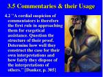 3 5 commentaries their usage43