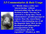 3 5 commentaries their usage44
