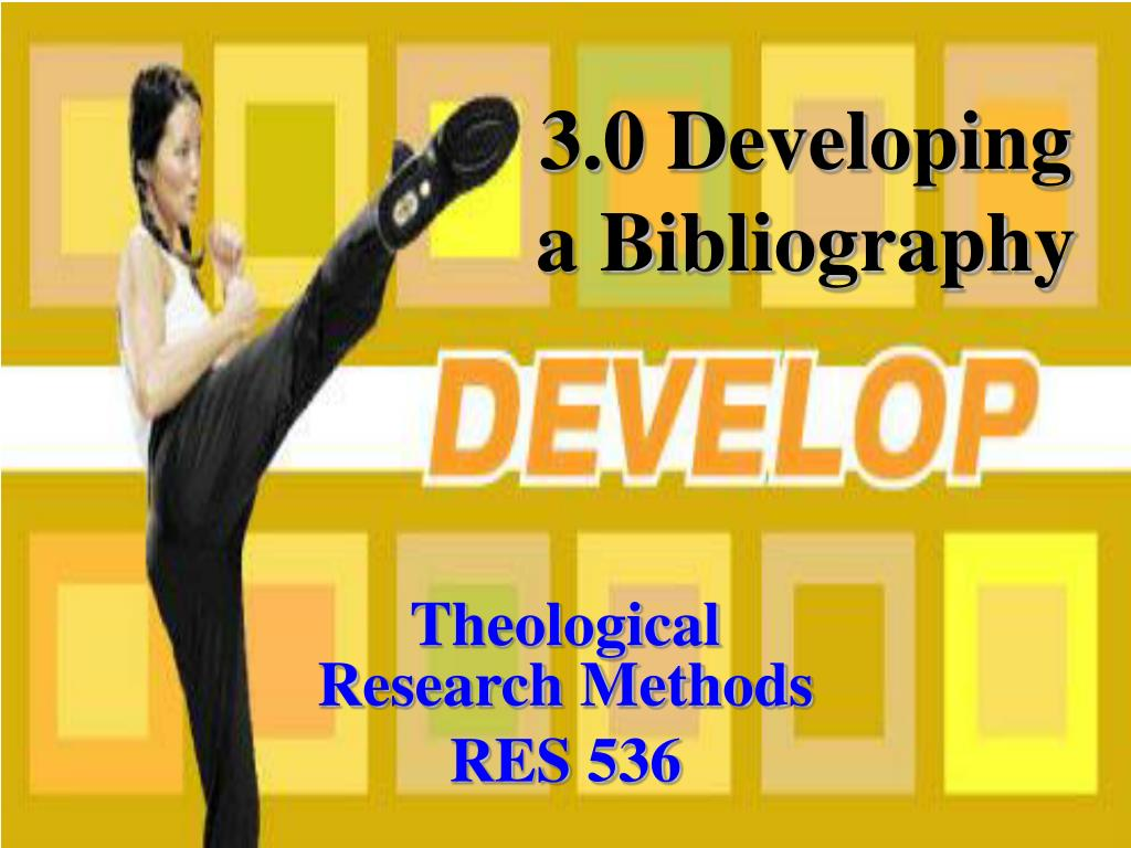 theological research methods res 536 l.