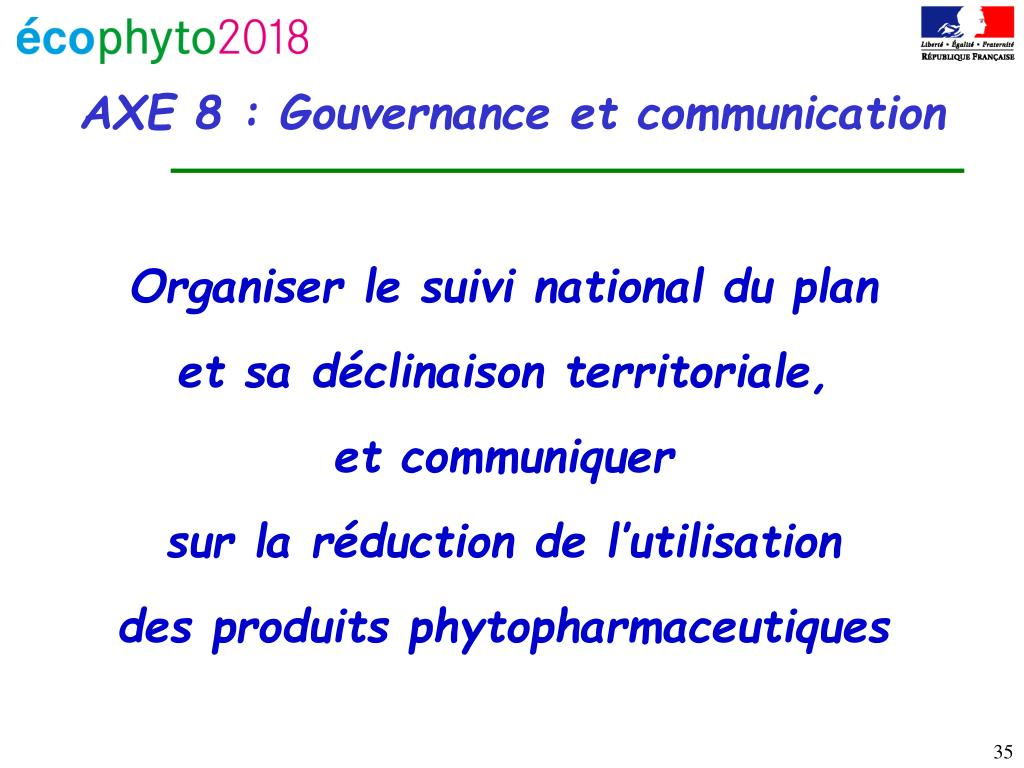 Organiser le suivi national du plan