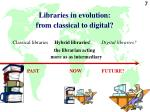 libraries in evolution from classical to digital