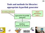 tools and methods for libraries appropriate hyperlink generator44