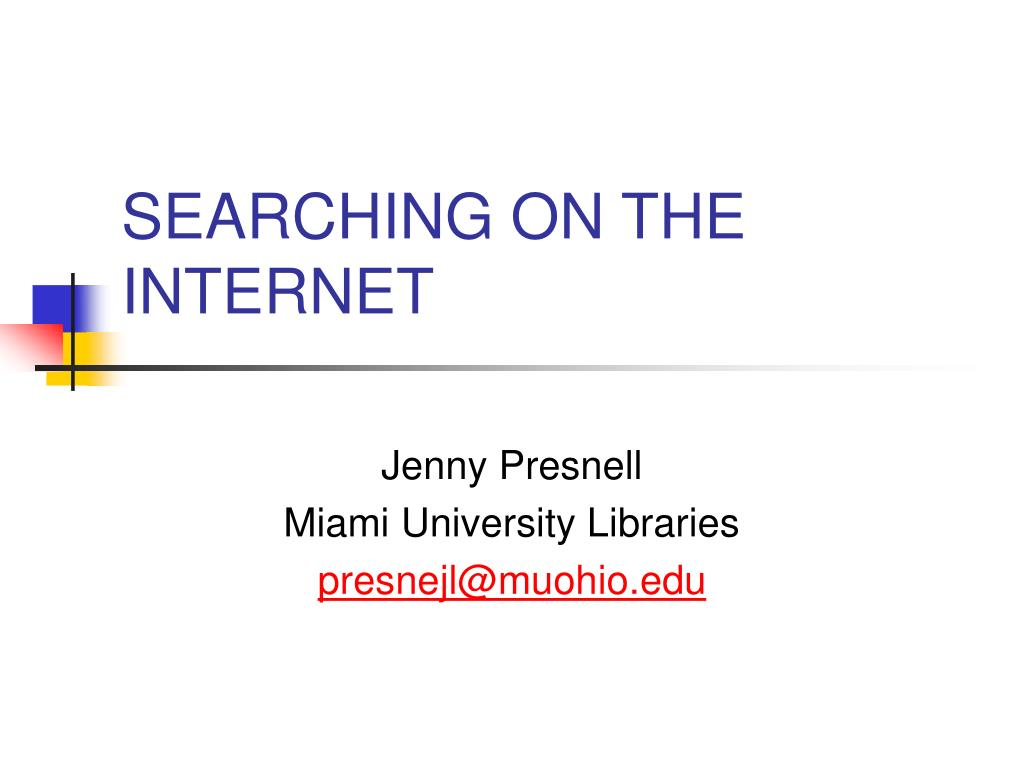 searching on the internet l.