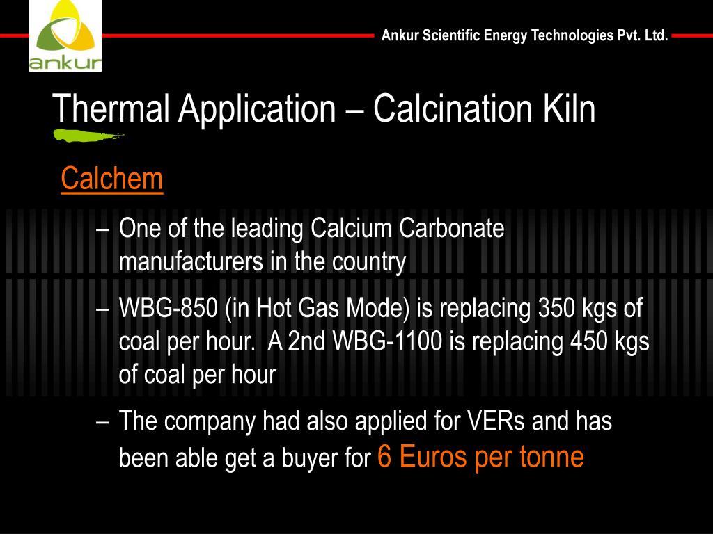 Thermal Application – Calcination Kiln