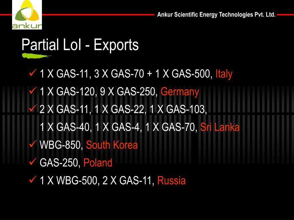 Partial LoI - Exports