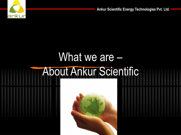 What we are about ankur scientific