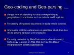 geo coding and geo parsing mapping