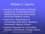william f garrity