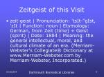 zeitgeist of this visit