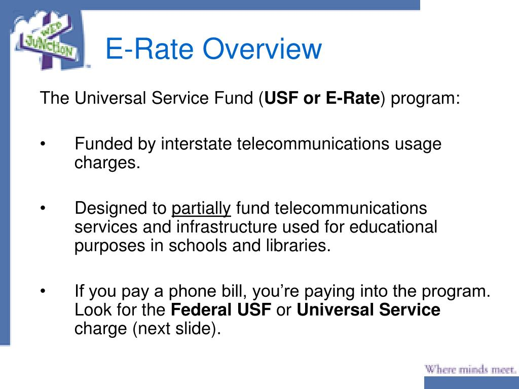 E-Rate Overview
