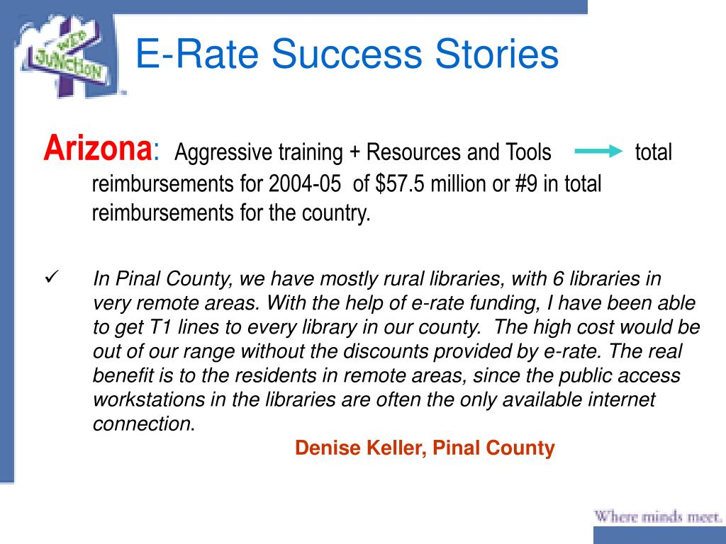 E-Rate Success Stories