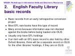2 english faculty library basic records