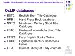 oxlip databases
