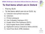 to find items which are in oxford