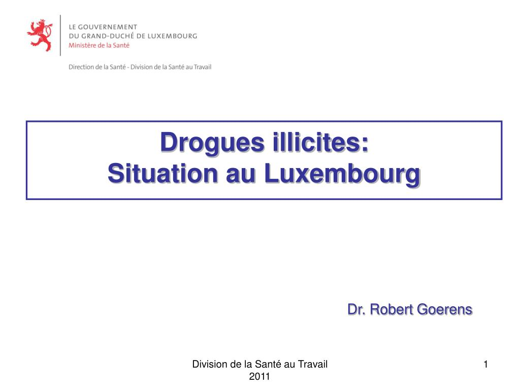 drogues illicites situation au luxembourg l.