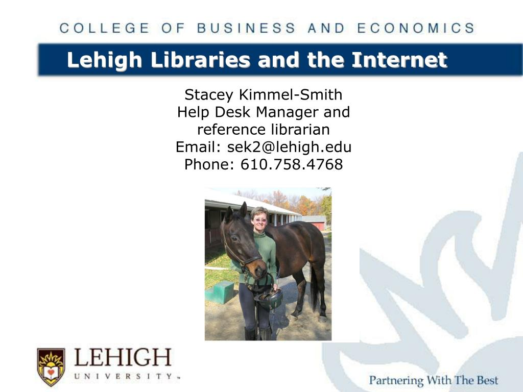 lehigh libraries and the internet l.