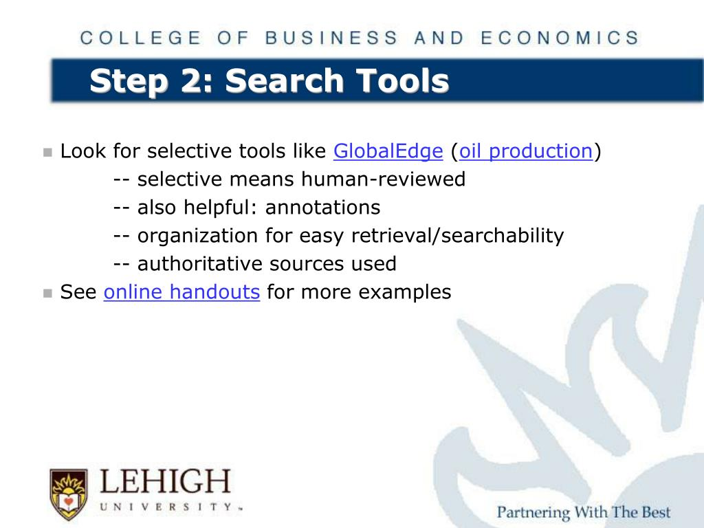 Step 2: Search Tools