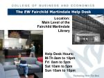 the ew fairchild martindale help desk