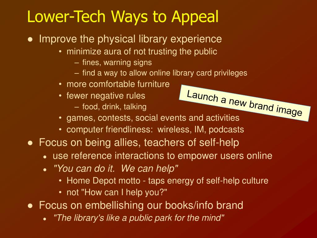Lower-Tech Ways to Appeal