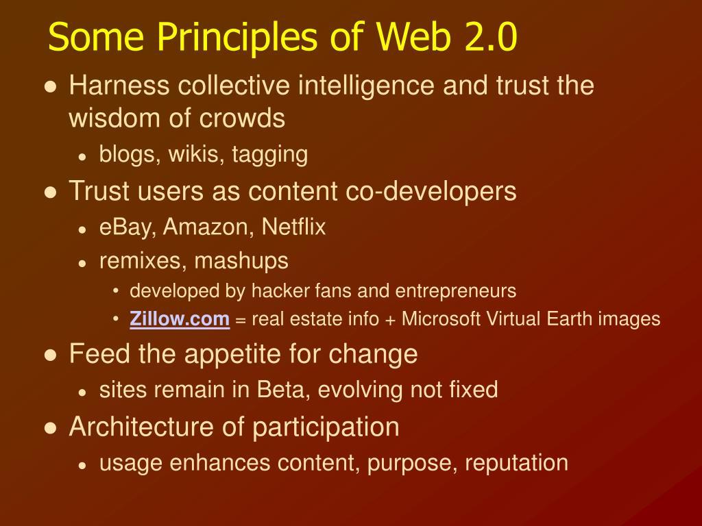 Some Principles of Web 2.0