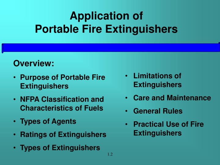 Application of portable fire extinguishers3
