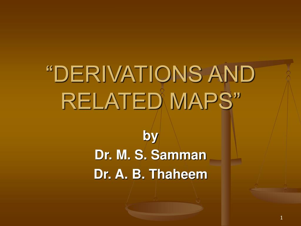 derivations and related maps l.