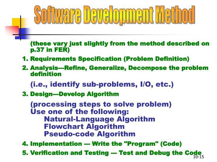 Software Development Method
