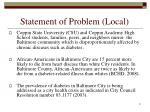 statement of problem local