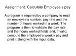 assignment calculate employee s pay