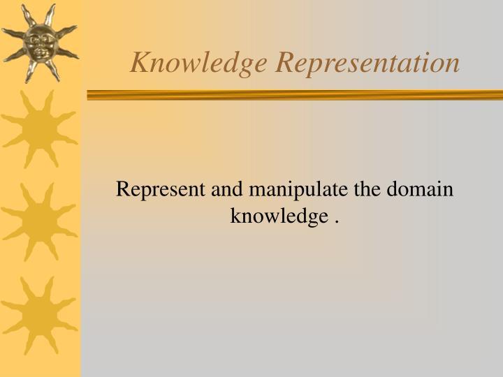 knowledge representation n.