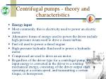 centrifugal pumps theory and characteristics12