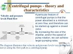 centrifugal pumps theory and characteristics14