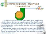 centrifugal pumps theory and characteristics15