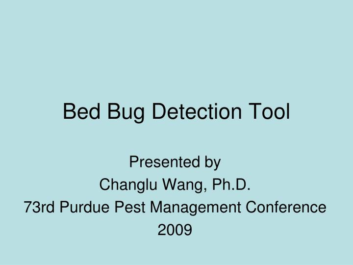 Bed bug detection tool