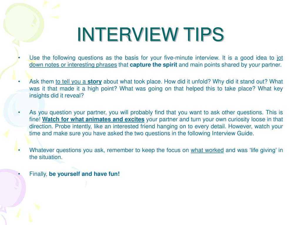 appreciative inquiry interview questions