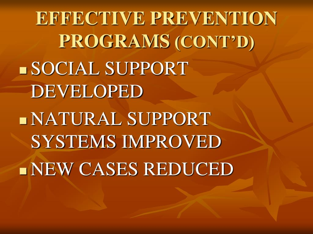 EFFECTIVE PREVENTION PROGRAMS
