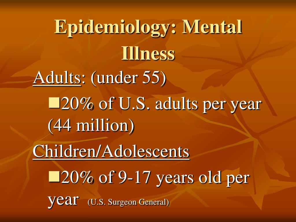 Epidemiology: Mental