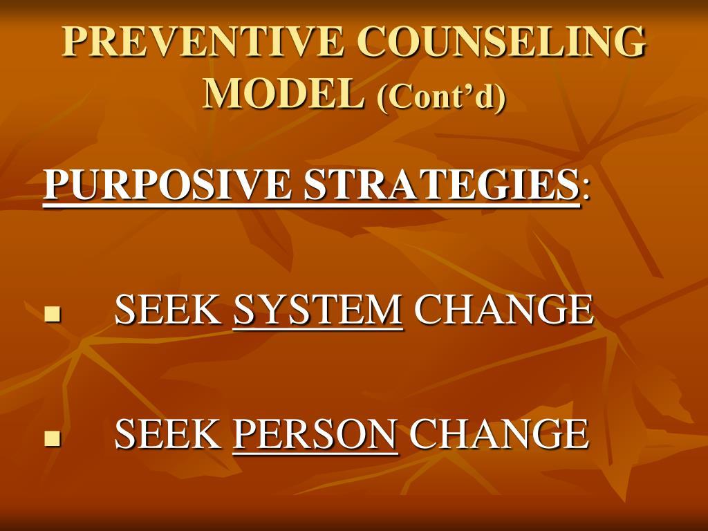 PREVENTIVE COUNSELING MODEL