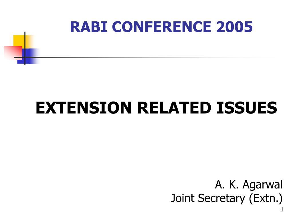 rabi conference 2005 l.