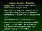 muscular disorders diseases