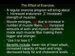the effect of exercise
