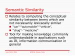 semantic similarity
