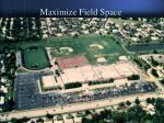maximize field space
