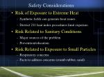 safety considerations9