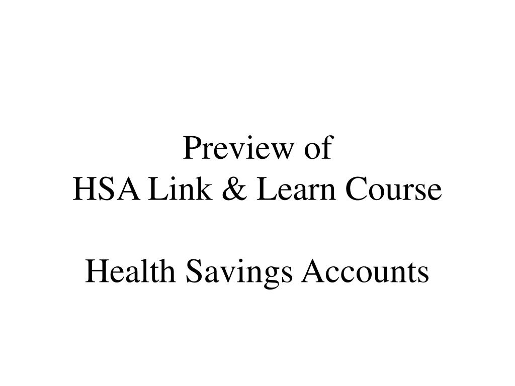 preview of hsa link learn course health savings accounts l.