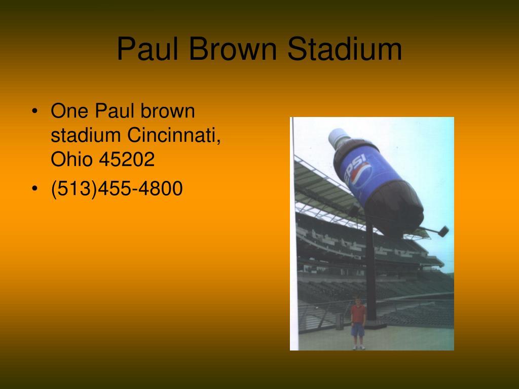 paul brown stadium l.