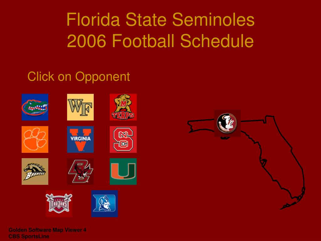 florida state seminoles 2006 football schedule l.