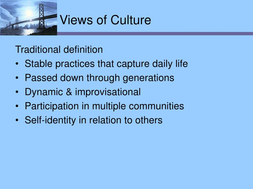 Views of Culture