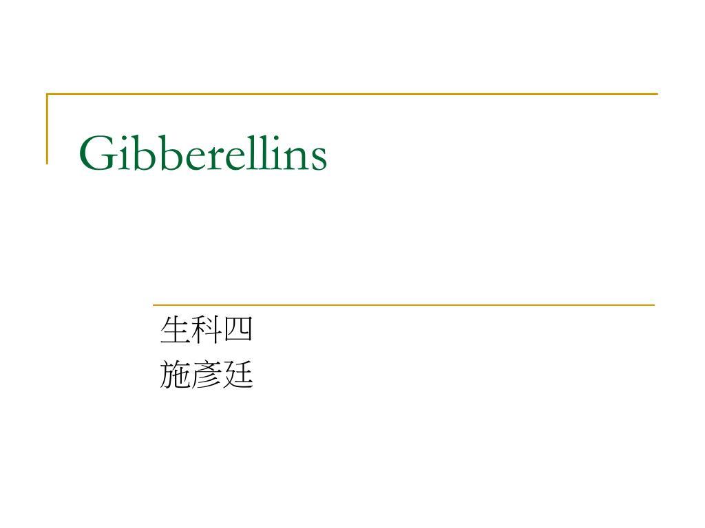 gibberellins l.