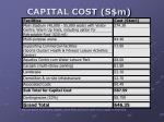 capital cost s m